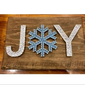 Joy string Art Wooden Sign